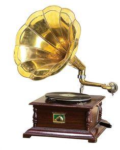 Wood Metal Gramophone