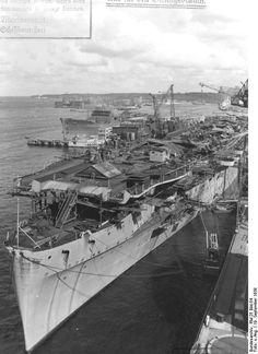 The Aircraft Carrier Graf Zeppelin under construction.
