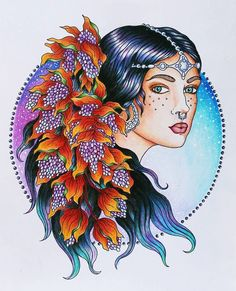 Wohoo! I almost can't believe it's finished! This beauty has been sitting on my desk for 3 weeks and I didn't want to start a new wip until it was finished. (Very unlike me, the high priestess of unfinished pages ) Used Prismacolors blended with Caran d'ache full blender stick, plus a white gel pen. #hannakarlzon #magiskgryning #daydreamscolouring #coloring #adultcoloring #divasdartes #jardimsecretoinspire #colorindolivrostop #jardimsecretotop #colorindomeujardimencantado #coloringbook…