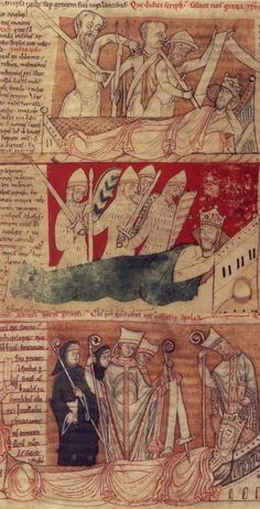 'King Henry I's Dream', an excerpt from the Chronicon Ex Chronicis by John Of Worcester († 1140).England, 12th Century.