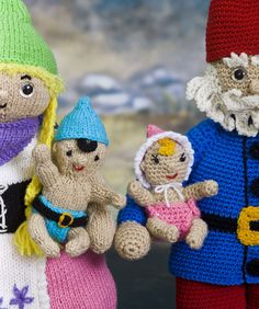 Gnoella & Gnoah Gnome Twins Knitting & Crochet Pattern  #crochet  #knit  #redheartyarns