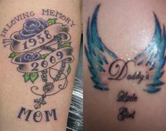 Beautiful In Rememberance Tattoos