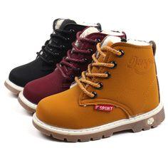 c9f781d750c  12.99 - Children Boys Girls Martin Sneaker Snow Laces Boots Kids Baby  Shoes Size 6-