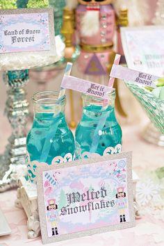 Melted Snowfalkes!!!  Awwwww!!!  Magical Sugar Plum Fairy Nutcracker Birthday Party