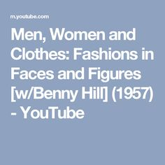 Men Women And Clothes Fashions In Faces And Figures