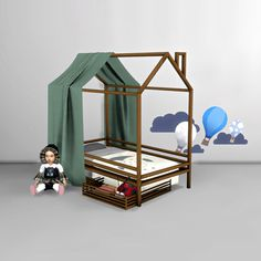 Sims 4 CC's - The Best: Toddler Bed and Canopy by Leo Sims