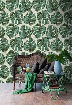 Tropical+Leaf+tapet+-+109