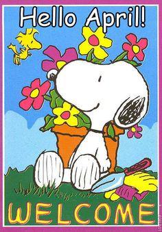 Snoopy Hello April