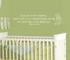 Winnie the Pooh Wall Decal Quote If you live by MommyofTyDesigns, $30.00
