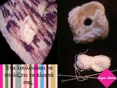 Ένα εύκολο λουλουδάκι για να στολίζετε τα πλεκτά σας.. Knitted Hats, Diy Crafts, Knitting, Knit Hats, Tricot, Knit Caps, Breien, Weaving, Diy Home Crafts
