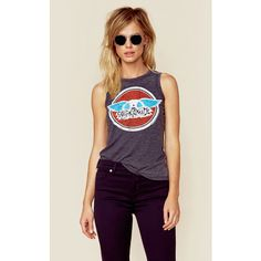 Chaser Aerosmith Muscle Tee (1.790 UYU) ❤ liked on Polyvore featuring tops, black, chaser tank tops, chaser tank, muscle tshirt, muscle t shirts and relaxed fit tank top