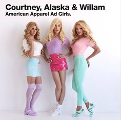 Courtney Act, Alaska Thunderfuck and Willam Belli American Apparel Ad