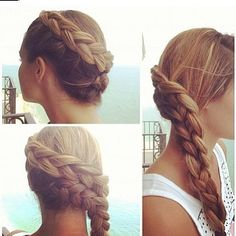 Double Katniss braid