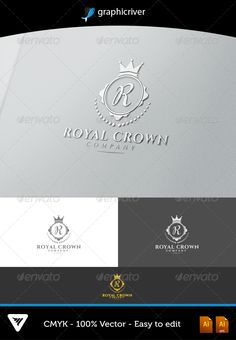 Royal Crown — Vector EPS #resort #logo • Available here → https://graphicriver.net/item/royal-crown/6508284?ref=pxcr