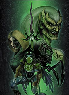 Kain, Raziel, Arial and Zephon, Soul Reaver: Legacy of Kain.