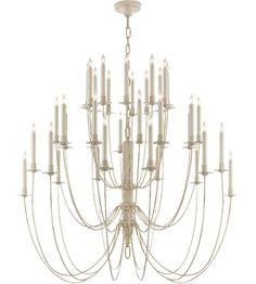 Visual Comfort TOB5206BW Thomas OBrien Erika 36 Light 40 inch Belgian White Chandelier Ceiling Light #LightingNewYork