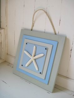 Sage Green and Blue Painted Wood Plaque with by ProjectCottage, $39.95