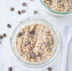 Easy Overnight Oats - MightyNest for Schools.  I'd be willing to try overnight oats again, with chocolate chips!  also, they suggest that it can be warmed up instead of cold.  even better, like a warm chocolate chip cookie!