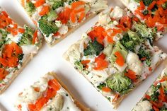 Cold Veggie Pizza Appetizer - keep those veggies nice and raw!