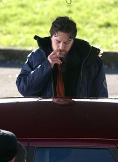 'Filth'  James McAvoy's dirty cop takes a drag. - Jan. 23, 2012  Copyright: Rex Features Michael McGurk