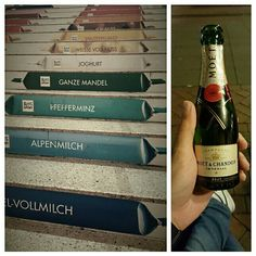 Warming up with Champagne ;) #decadent #champagne #chocolate #richkids