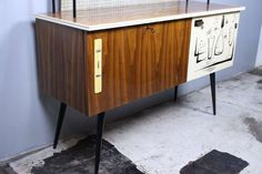 Italian Mid-Century Dry Bar | From a unique collection of antique and modern dry bars at https://www.1stdibs.com/furniture/storage-case-pieces/dry-bars/