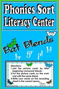 Kindergarten Centers, Kindergarten Activities, Literacy Centers, 2nd Grade Activities, Phonics Activities, Reading Words, Guided Reading, Phonics Blends, Phonics