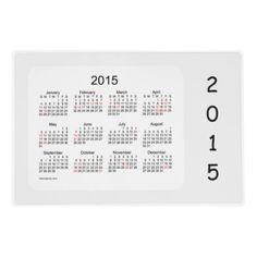 2015-2016 Holiday Calendar by Janz Laminated Smoke