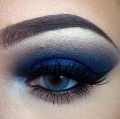 This blue eye look created by @meliallenmua is fierce! #Milani products used: Bella Eyes in colors 28 Bella Chiffon (highlight) and 09 Bella Navy (lid and crease).