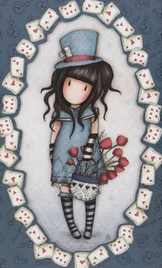 ‿✿..GORJUSS..✿‿ House Painting Pictures, Pictures To Paint, Print Pictures, Santoro London, Bird Artwork, Cute Little Girls, Cute Illustration, Filofax, Cute Cartoon