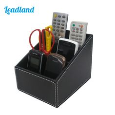 Pen Holders Desk Accessories & Organizer Business Name Cards Remote Control Large Assortment 1pcs Pu Leather Multi-function Desk Stationery Organizer Storage Box Pen/pencil,cell Phone