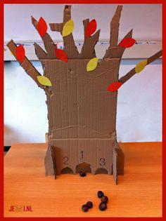 Jessi.nl⋆ Rekenspelletje: de sjoelboom ⋆sjoelen met kastanjes in de herfst