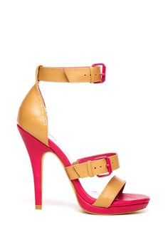 Colorblock heels ... bet these would look super cute with jeans!