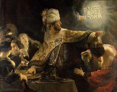 El festín de Baltasar (1636) Rembrandt