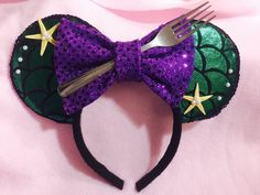 Minnie Mouse Ears Mermaid by CrazyBeautifulCreati on Etsy