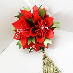 Kusudama virág színes fénymásoló papírból - Art-Export webáruház