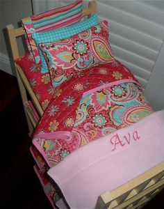 HI! THANKS for checking out my shop!    This listing is for the pretty, high quality light pine triple bunk bed and bedding. The individual