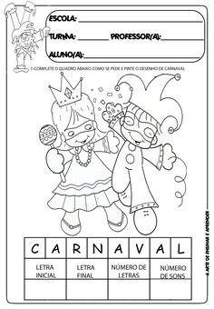 A Arte de Ensinar e Aprender: Atividades temáticas carnaval
