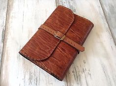 Genuine Leather Book Cover Handmade Refillable Notebook Journal Case