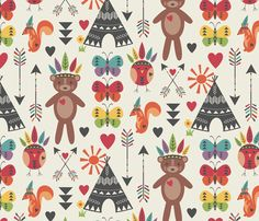 Little Indians-main Pattern - Bohemiangypsyjane
