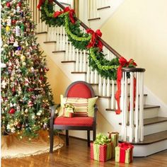 I love this idea.  I need to wrap boxes as presents and put one of each step at the landing before you go upstairs <3 :)
