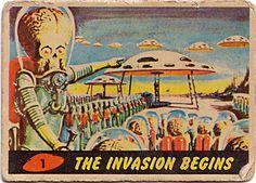 Mars Attacks! trading card, 1962