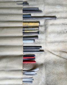 Atelier Vandré Helmond. Beitels. © fotograaf Mario Kuijpers.