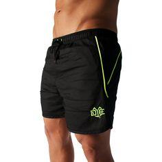 DYE Aero-Stripe Shorts - Black/Neon Stripe Shorts, Black Neon, Athletic Shorts, Workout Wear, Fitness, How To Wear, Fashion, Moda, La Mode