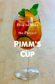 How to make the perfect Pimm's Cup cocktail.