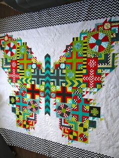 The Butterfly Quilt by Kathleen G. Kerr, design by Tula Pink | Kathleen Quilts
