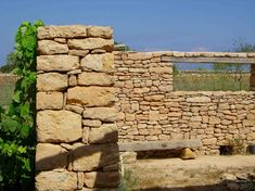 Building Stone, House On The Rock, Brick And Stone, Columns, Firewood, Facade, Stones, Garden, Character