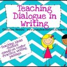 This free pack is sure to help you through your writing dialogue unit! In this pack you will receive:-Rules to edit/punctuate dialogue correctly p...