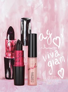 MAC Viva Glam Ariana Grande for Spring 2016 Good girl? Bad girl? Glam girl? Ask #VIVAGLAM Ariana Grande! Go deep dark in her matte plum Lipstick, or good,