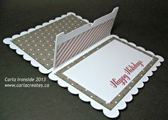 Carla Creates Gift Card holder made with Artiste, Sparkle and Shine CTMH papers, washi tape